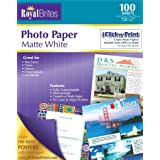 Royal Brites Matte Coated Photo Paper, 2 Sided, Heavy Weight, 8.5 x 11 Inches, Pack of 100 (46272)