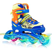 Adjustable Inline Skates for Kids , Otw-Cool Boys Rollerblades with All Wheels Light up , Safe and Durable inline roller skates for boys