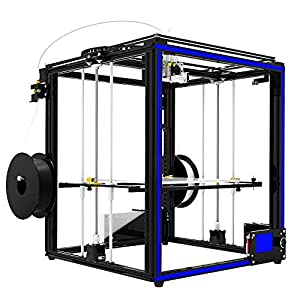 Tonglingusl 3d printers 3d printer 2 in 1 out extrusion filament sensor resume print heatbed cube full metal square 3.5 inch touch screen x5sa-2e