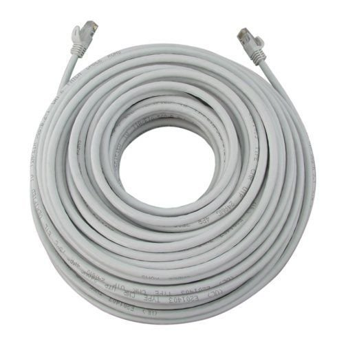 100FT 100 FT RJ45 CAT6 CAT 6 HIGH SPEED ETHERNET LAN NETWORK White PATCH CABLE,Designed Network Adapters, Hubs, Switches, Routers, DSL/Cable Modems, Patch Panels and other twisted-pair applications