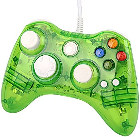 Three Legs USB Wired Gamepad Game Pad Controller For Xbox 360 PC Windows Transparent Green [Importación Inglesa]: Amazon.es: Videojuegos