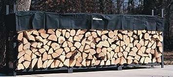 12ft Woodhaven Firewood Rack - Black