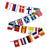 30ft String Flag Set of 20 European Country Flags