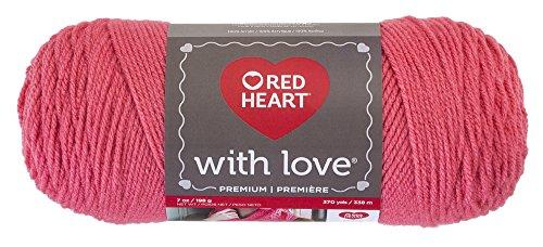 Red Heart Love E400.1939 Yarn, Papaya, Solid