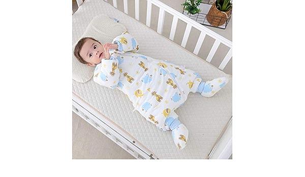 ASEOK Saco de dormir para beb/és Cocoon Style Saco de dormir de algod/ón anti patada cochecito universal 3 en 1 Anexo Mat Reposapi/és Cubre de cochecito Bolso de Bunting Impermeable a prueba AZUL, L