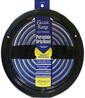 STANCO Electric Range Drip Pan Black Porcelain On Steel, ...