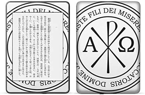 igsticker kindle paperwhite 第4世代 専用スキンシール キンドル ペーパーホワイト タブレット 電子書籍 裏表2枚セット カバー 保護 フィルム ステッカー 016388 紋章 英語