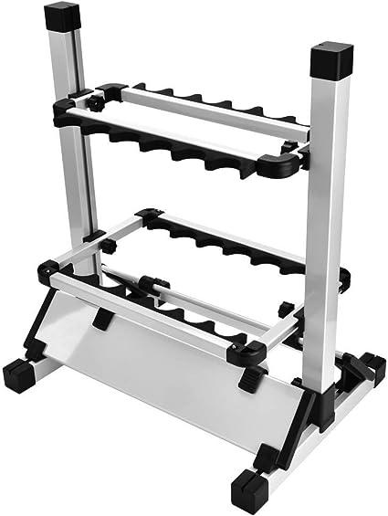 Okuma Expandable Fishing Rod Rack  ABS Holder Storage Stand 16 Poles Aluminum