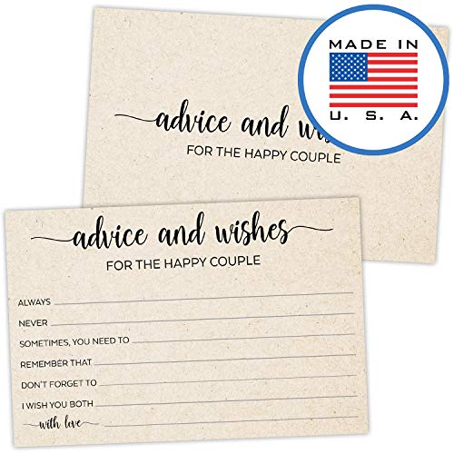 321Done Advice and Wishes for The Happy Couple Cards (50 Cards) 4