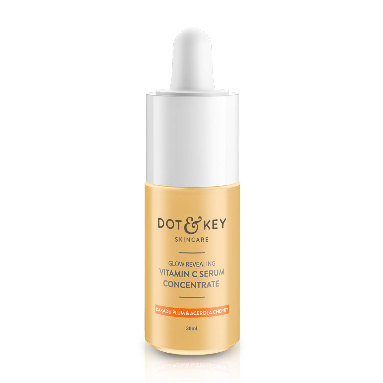 Dot & Key Glow Revealing Vitamin C Serum Concentrate 30ml, vitamin c serum with hyaluronic acid for glowing skin