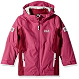 Jack Wolfskin Girls Grivla 3In1 Jacket, Fuchsia, Size 140 (9-10 Years)