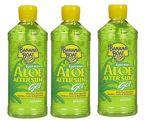 Banana Boat Aloe Aftersun Gel Soothes Dry Sunburned Skin: Size 16 Oz (Pack of 3) (Banana Boat Gel)