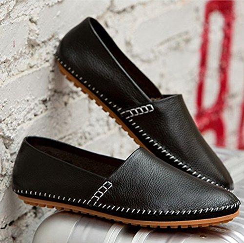 Casual Dooxi Planos Negocio Diario Zapatos Loafer Negro Hombre Zapatos Moda Mocasines cXqX4rRwT