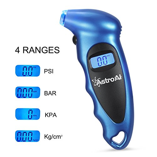 Image of AstroAI Digital Tire Pressure Gauge 150 PSI 4 Settings for Car Truck