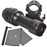 Sightmark 7X Tactical Magnifier with Slide to Side Mount Bundle Includes a Lumintrail Microfiber Cleaning Cloth