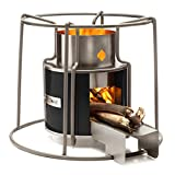 Affirm Global IT117469BBLK Wood Burning EZY Stove, Black