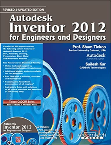 Buy Autodesk Inventor 2012 for Engineers and Designers Book Online ...
