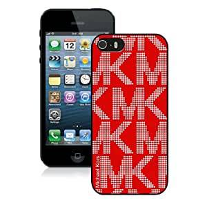 Genuine MK 5S Case,Michael Kors 3 Black Iphone 5S Screen Phone Case Unique and Fashion Design