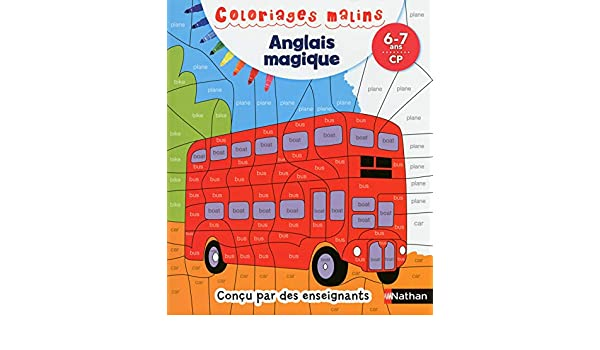 Coloriage Transports Anglais.Coloriages Malins Anglais 6 7 Ans Cp French Edition