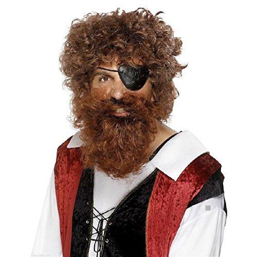 Pirate Beard Fake Adult Barbarian Viking Warrior Halloween Costume Fancy Dress