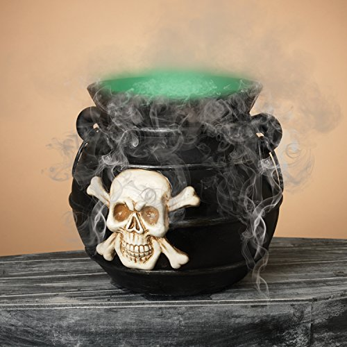 One Holiday Way Lighted Black Halloween Witch's Cauldron