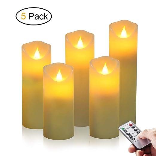 Velas LED, omitium Sin Llama Velas Cera Parafina con Control ...