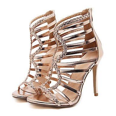 Cn34 Us5 Fschooly Talon cuir Simili Dcontract Bottes Or Confort Mariage Uk3 Eu35 Or Femme Printemps Chaussures Et Sandales Pour Nouveaut Noir Aiguille UxrvUq1wC