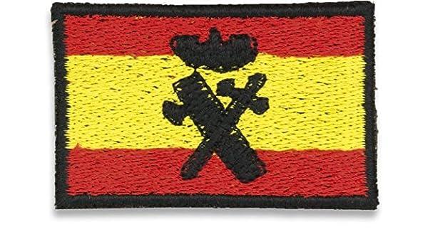 Bandera Bordada España Con Logo G. Civil: Amazon.es: Productos ...