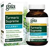 Gaia Herbs Turmeric Supreme Allergy, Vegan Liquid Capsules, 60 Count – Turmeric Curcumin Supplement for Seasonal Allergy Support, Non-Drowsy Formula with Quercitin, Stinging Nettle Review