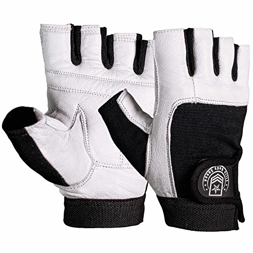 Weight Lifting Gloves + FREE Carry Bag  Best Quality Leather Gym Gloves For...