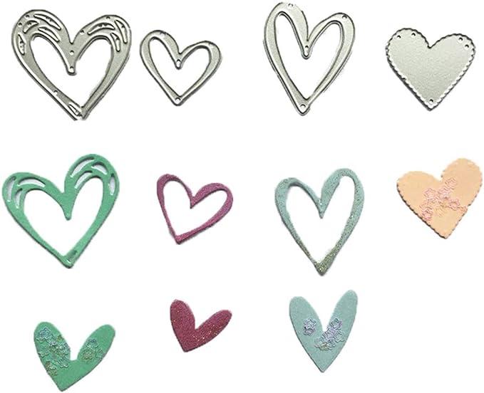 Assorted Heart Shape XOXO Love Word Metal Cutting Dies Diy Scrapbook Crafts FRS