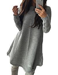 YACUN Women Winter Sweater Mini A-line Coaktail Dress