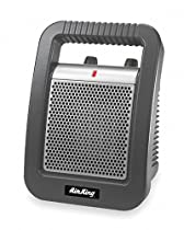 AIR King 6-3/4 x 8-3/4 x 11-3/4 Fan Forced Electric Space Heater, Gray, 120VAC