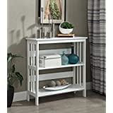 Convenience Concepts Mission 3-Tier Bookcase, White