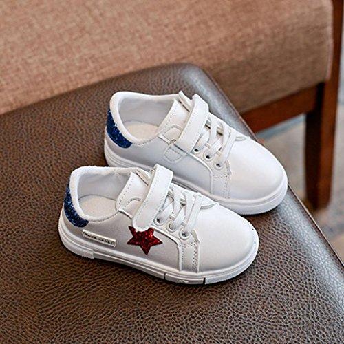 Sport Schuhe,Hunpta Baby Sequins Stern Turnschuh Kind Mädchen Jungen beiläufige weiße Sport Schuhe Blau