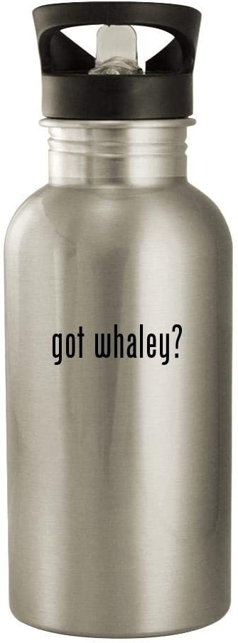 got whaley? - 20oz Stainless Steel Water Bottle, Silver
