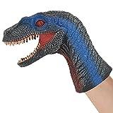 Velociraptor Hand Puppet for Kids Soft Rubber 10.6 inch Realistic Velociraptor Dinosaur Toy T001