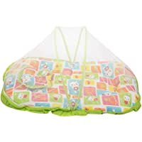 Mee Mee Baby Mattress Set with Mosquito Net and Pillow (Green)