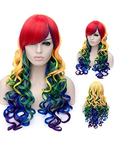 Tsnomore-Long-Wavy-Curly-Multi-Color-Colorful-Rainbow-Full-Hair-Wig-fpr-Cosplay-Party