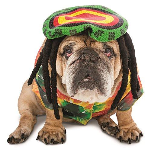 Faerynicethings Zelda Rasta Dog Costume - Marley Funny Pet Rastafari - Dog Cat - 7 sizes]()