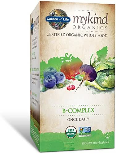 Garden of Life B Complex with Folate - mykind Organic Whole Food Supplement for Metabolism and Energy, 30 Tablets