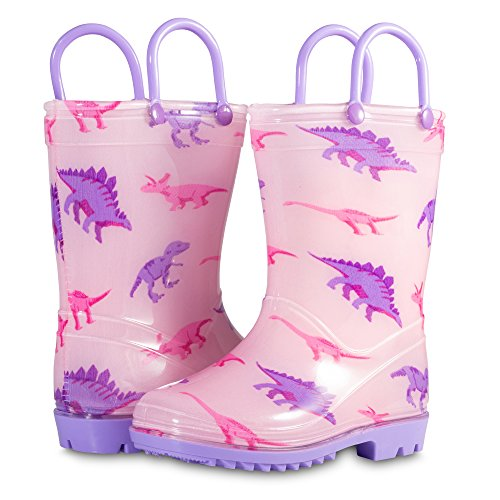 Chillipop Toddler 5-10 Girls Pink Dino PVC Rain Boot, Available in All Kid Sizes by Chillipop (Image #5)
