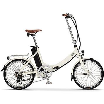 """2016 Blix Vika + 20 """"crema 7 velocidad bicicleta plegable eléctrica"""
