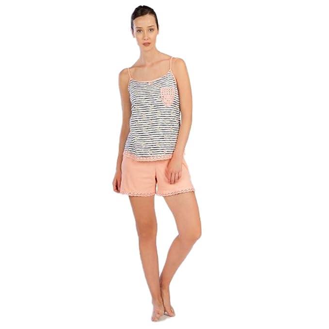 Señoretta Pijama de Mujer en algodón de Tirantes 181138, L
