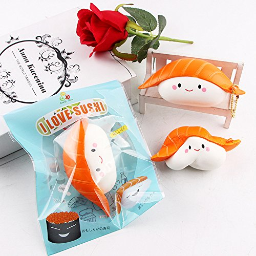 Zakally Squishy Toy Soft Exquisite Sushi Scented Stress Relief Toy Soft Toy Kawaii Collection Slow Rising Toy Decompression SimulationToys Cure Toy for Kid Gift 2018 Toys
