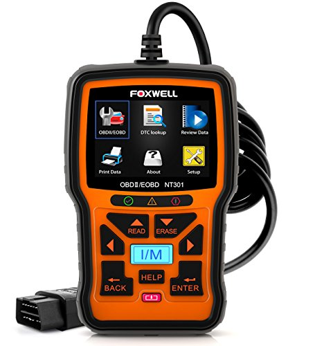 FOXWELL NT301 Car Obd2 Code Scanner Universal Check Engine Light Diagnostic Tool Automotive Fault Code Reader Obd II Eobd Scan Tool
