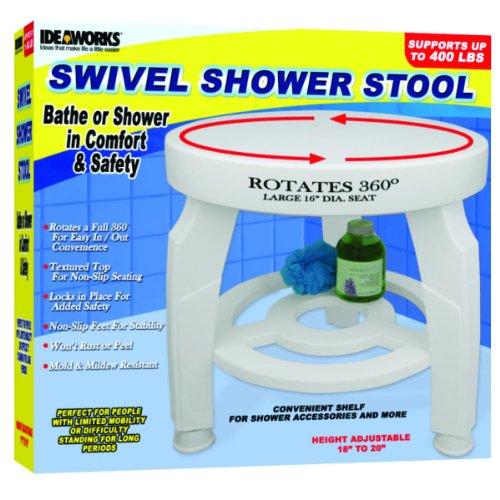 JIIJB5596 - Swivel Shower Stool, 16-1/2 dia. Seat, Height Adjustable from 17 - 19 by Jobar International