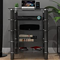 Ryan Rove Hamlin Glass Component Stand in Black