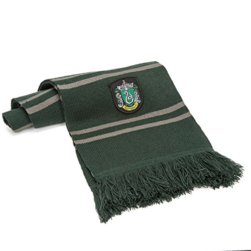 Cinereplicas Harry Potter Scarf - Official - Authentic - Ultra Soft Knitted Fabric (Green & Silver -