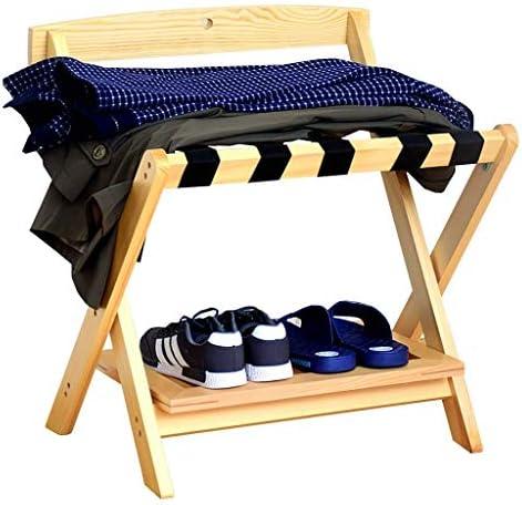 ZWH-ZWH 荷物は、荷物が靴棚、ホテルルーム折り畳み式のソリッドウッドスーツケースホルダーラックラック、荷物棚スーツケースバックパックラック 手荷物棚